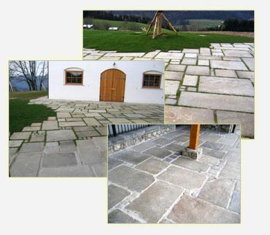 Granitplatten alt